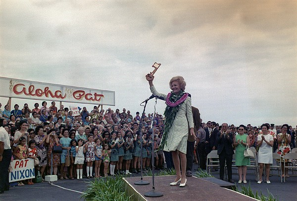 History Photograph - First Lady Campaigning In Hawaii. A by Everett