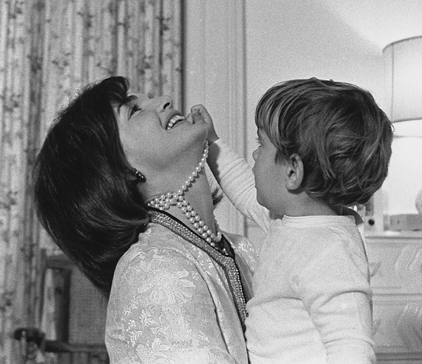History Photograph - First Lady Jacqueline Kennedy Laughs by Everett