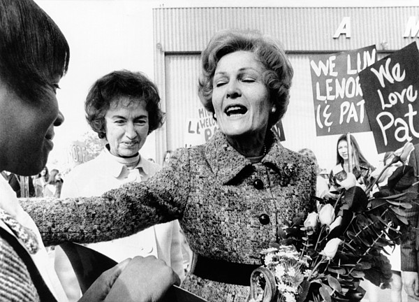 History Photograph - First Lady Pat Nixon Visiting Detroit by Everett