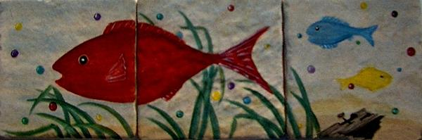 Fish Painting - Fish In A Sea Of Colored Bubbles by Sandra Maddox