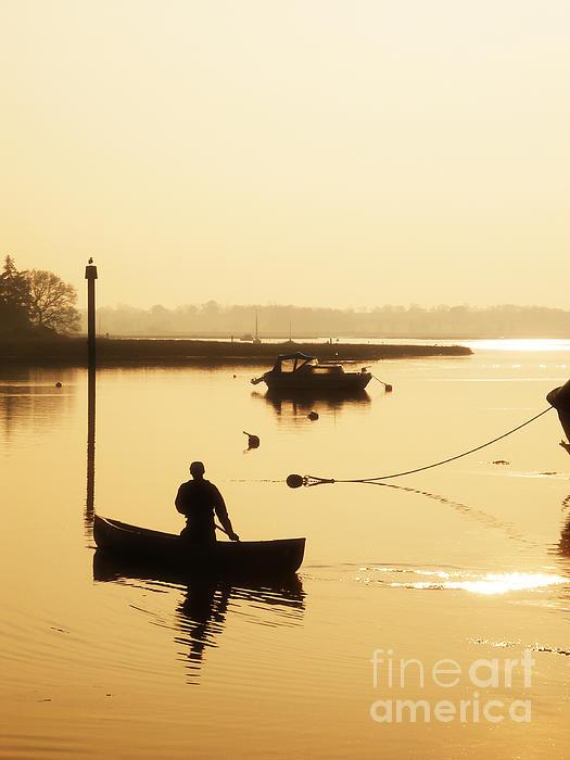 Fisherman Photograph - Fisherman On Lake by Pixel Chimp
