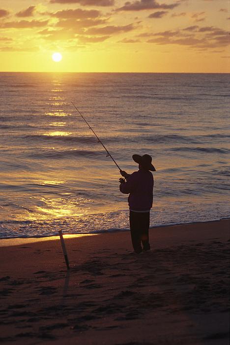 Hobe Sound National Wildlife Refuge Photograph - Fishing At Sunrise by Raymond Gehman