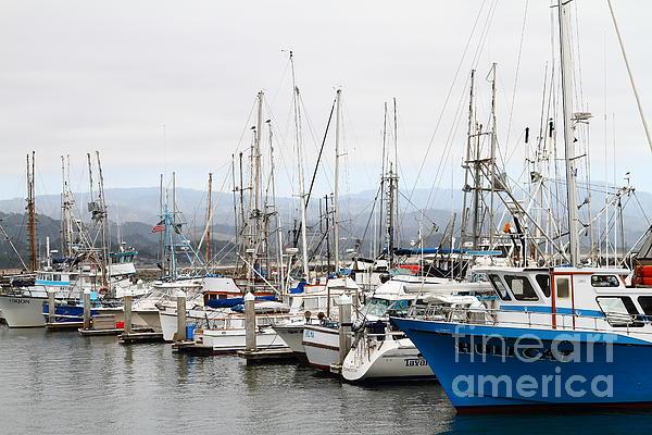 Transportation Photograph - Fishing Boats In Pillar Point Harbor At Half Moon Bay California . 7d8208 by Wingsdomain Art and Photography