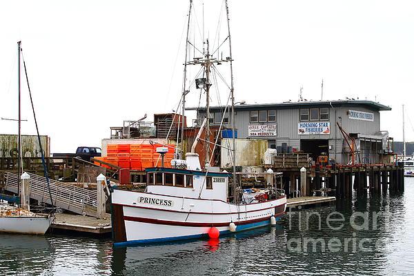 Transportation Photograph - Fishing Boats In Pillar Point Harbor At Half Moon Bay California . 7d8210 by Wingsdomain Art and Photography