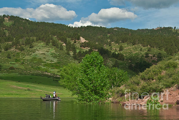 Horsetooth Reservoir Photograph - Fishing On Horsetooth Reservoir by Harry Strharsky