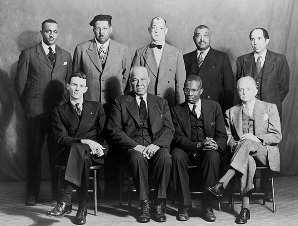 History Photograph - Five African American Defendants by Everett