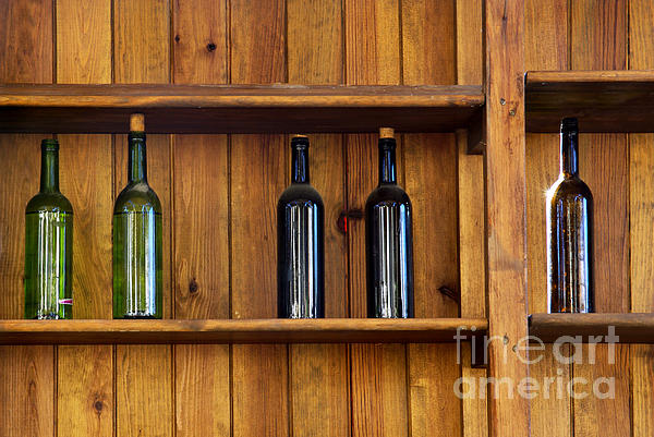 Abandoned Photograph - Five Bottles by Carlos Caetano