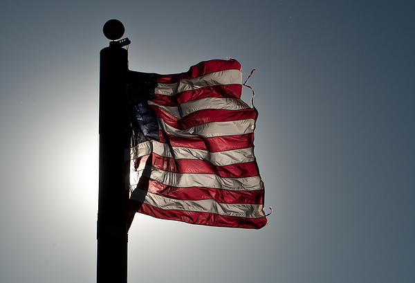 American Flag Photograph - Flappin Old Glory by Keith Sanders