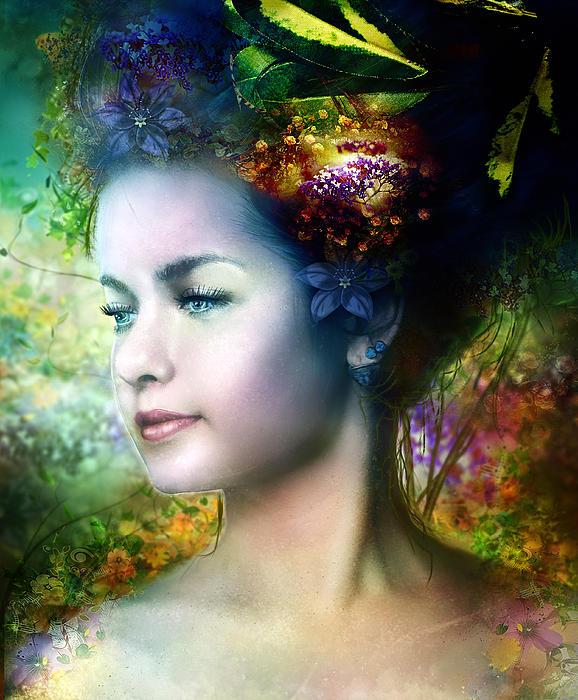 Natural Digital Art - Flora by Mary Hood