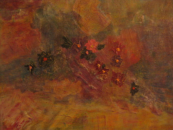 Abstract Mixed Media - Flower Wash by Lynn Watters
