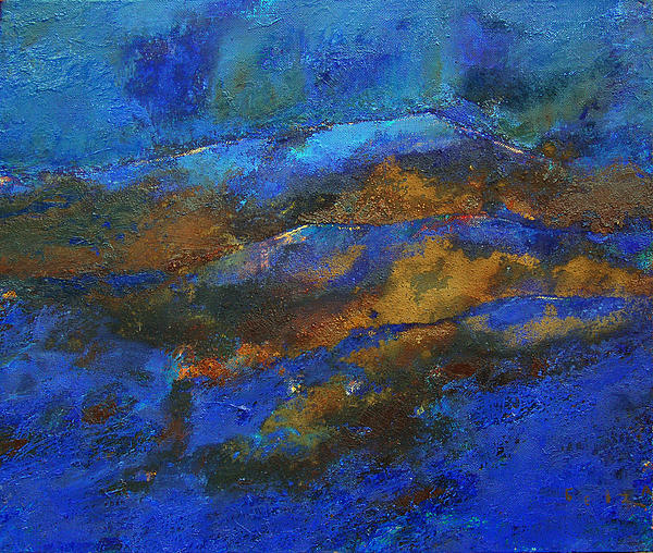 Sky Painting - Fog Of Mihail Grecu by Petro Bevza