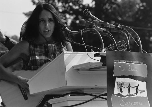 History Photograph - Folk Singer Joan Baez Singing by Everett