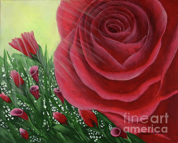 Floral Painting - For The Love Of Roses by Kristi Roberts