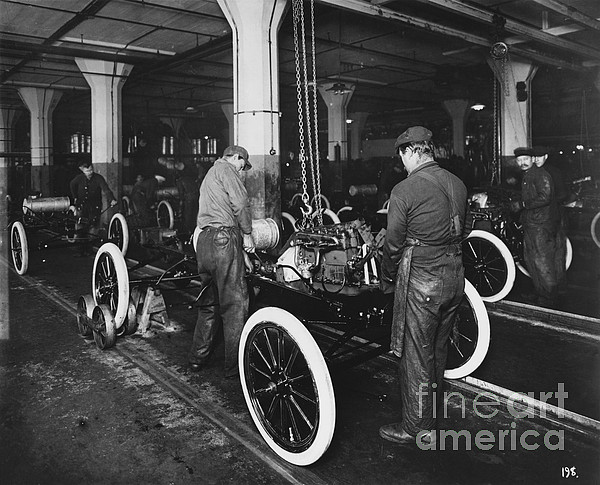 Ford Photograph - Ford Assembly Line by Omikron
