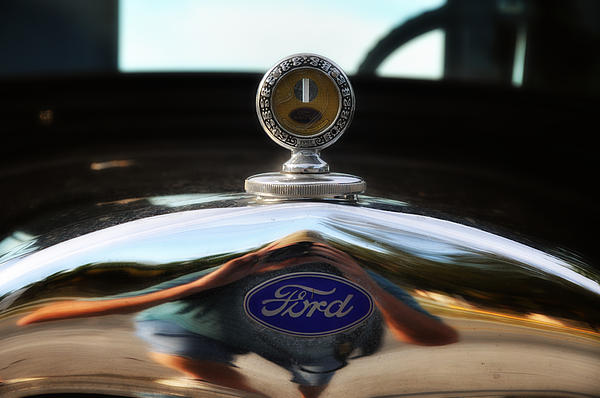 Ford Photograph - Ford Model T Hood Ornament by Bill Cannon
