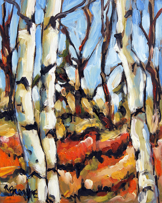 Painting Painting - Forest Edge By Prankearts by Richard T Pranke