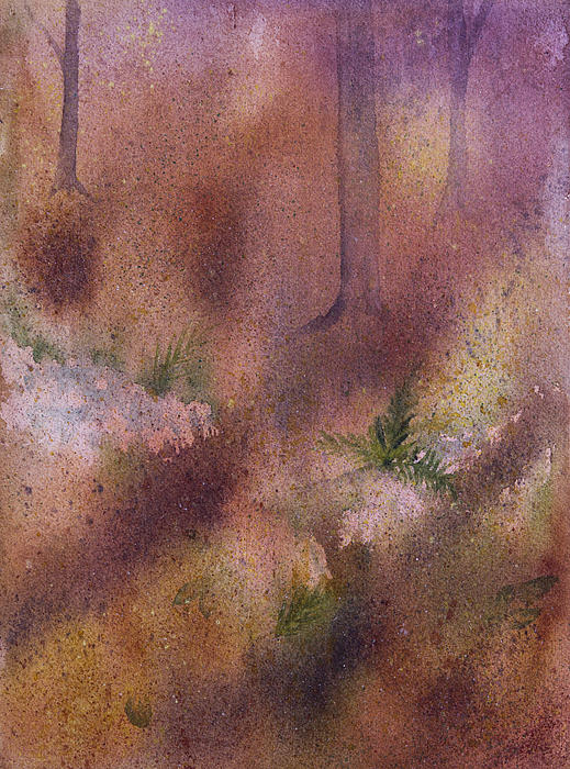 Forest Painting - Forest Floor by Debbie Homewood
