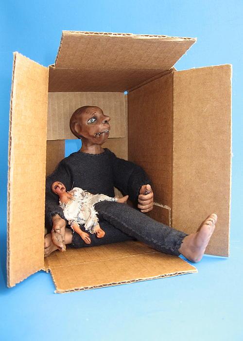 Art Doll Sculpture - Forgotten Friend by Catherine Carr