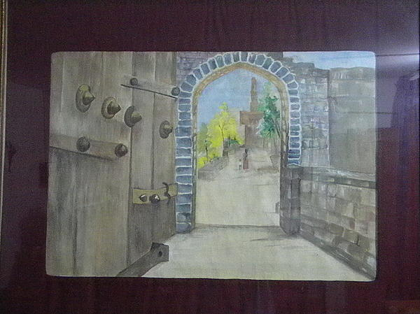 Fort Gate Painting by Seema Sharma