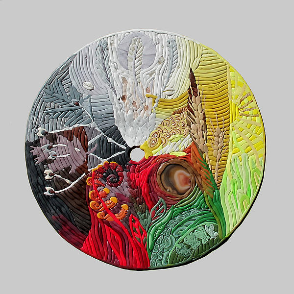 Mandala Relief - Four Directions  2 by Arla Patch