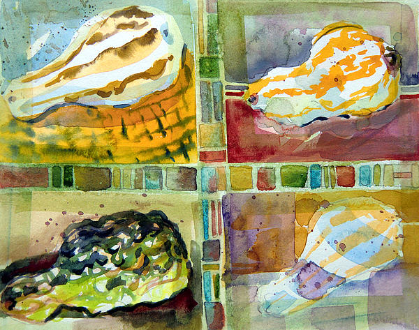 Gourds Painting - Four Gourds by Mindy Newman