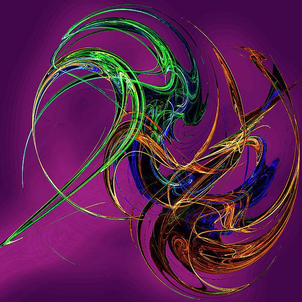 Digital Digital Art - Fractal Tatoo-purple by Michael Durst