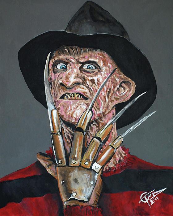 Freddy Painting - Freddy Kruger by Tom Carlton