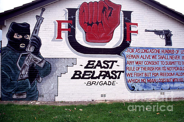 Mural Photograph - Freedom Corner Mural Belfast by Thomas R Fletcher