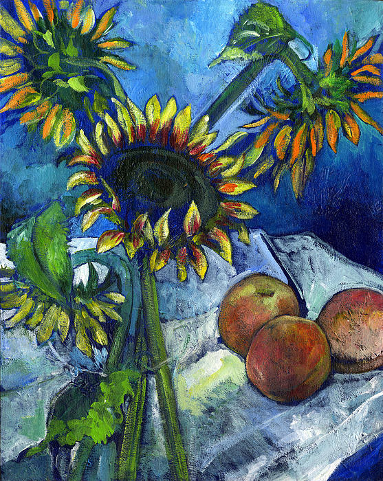 Sunflowers Painting - From The Farmers Market by Carol Mangano