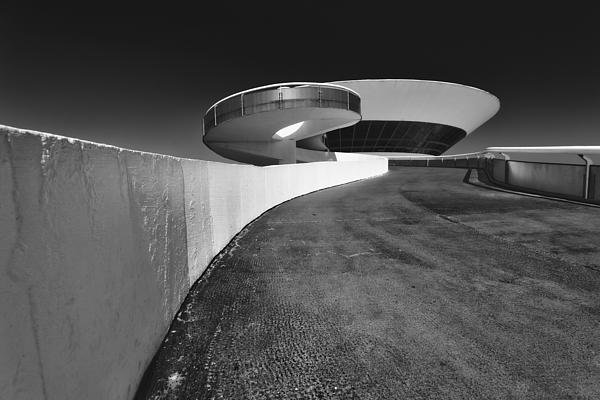 B & W Photograph - Futuristic Shapes by George Oze