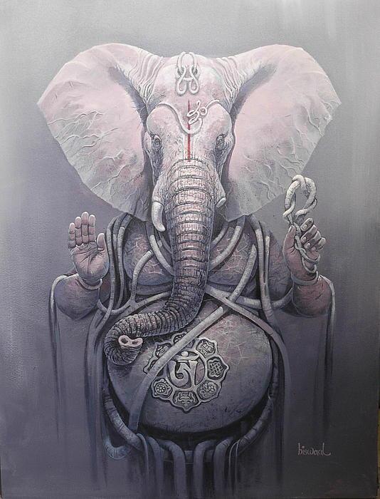 Gajanan..11 Painting by Bijay Biswaal