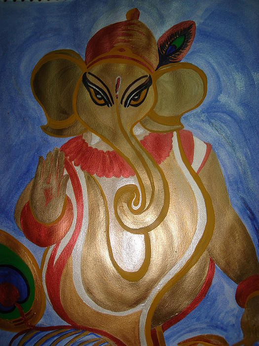 Lord Ganesha Painting - Gajodhar by Seema Sharma