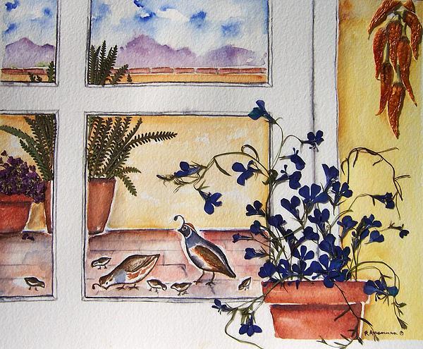 Quail Painting - Gambels Quail by Regina Ammerman
