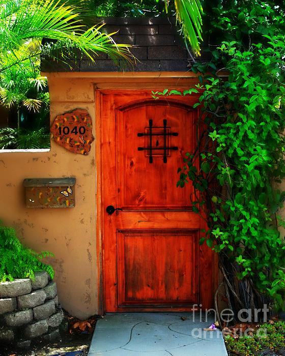 Door Photograph - Garden Doorway by Perry Webster