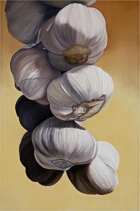 Still Life Painting - Garlic Still Life by Matthew Bates
