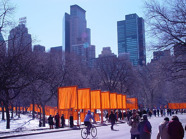 Central Park Digital Art - Gates And Snow In Central Park by Alton  Brothers