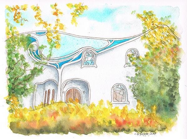 Gaudi Painting - Gaudi In Beverly Hills - California by Carlos G Groppa