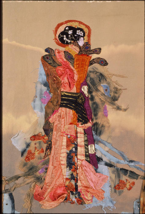 Quilt Tapestry - Textile - Geisha by Roberta Baker