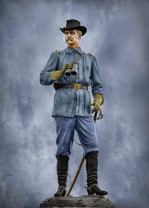General John Buford Digital Art - General John Buford At Gettysburg by Randy Steele
