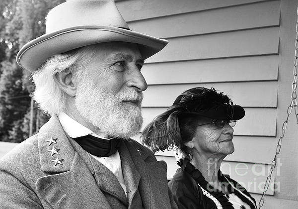 General Robert E. Lee Photograph - General Lee And Mary Custis Lee by Thomas R Fletcher