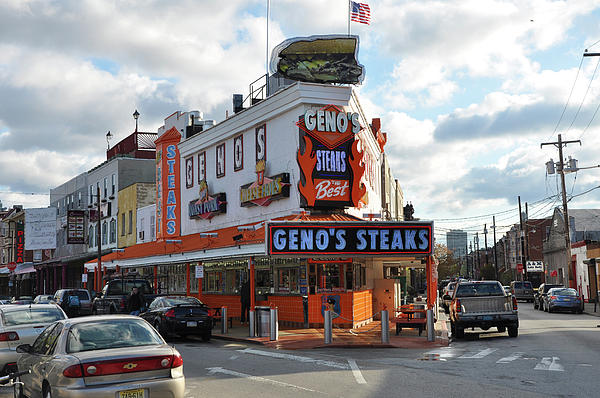 South Photograph - Genos Steaks - South Philadelphia by Bill Cannon