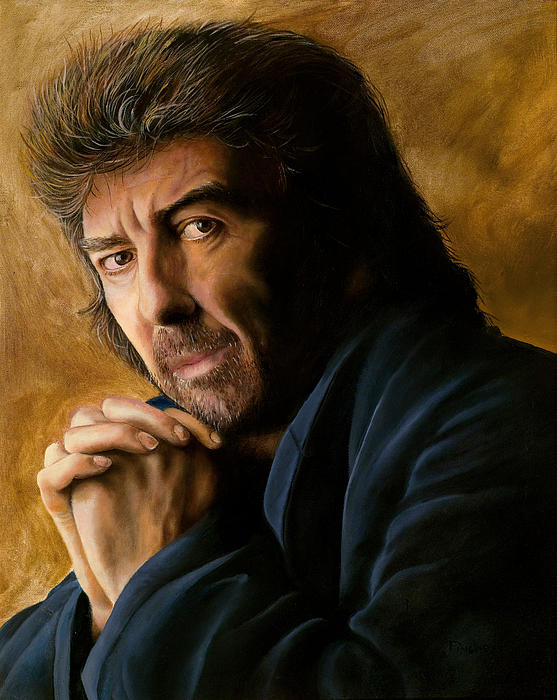 The Beatles Painting - George by Douglas Fincham