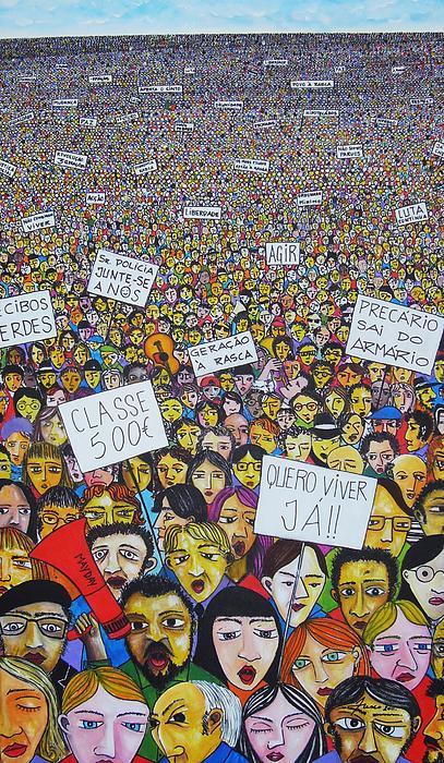 Geracao A Rasca Painting by Mario Fresco