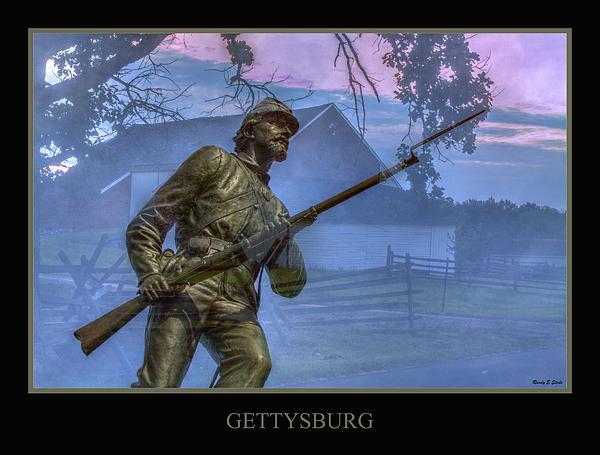 Army Of The Potomac Digital Art - Gettysburg Battlefield Poster by Randy Steele