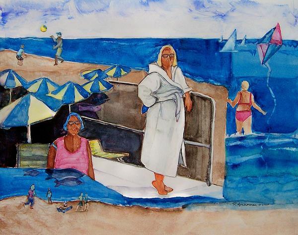 Beach Scene Painting - Giancarla by Regina Ammerman