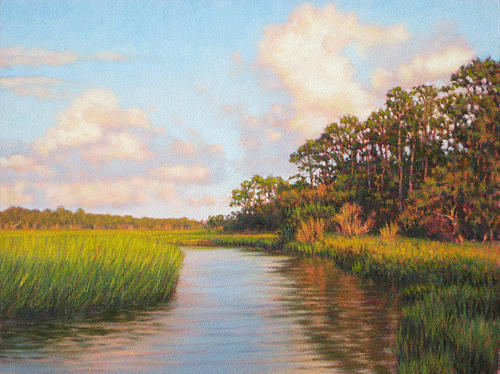 Marsh Scenes Painting - Giclee Afternoon On Jekyll Island  by Michael Story
