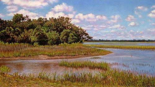 Sc Painting - Giclee Island Divide by Michael Story