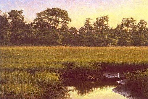 Sc Painting - Giclee Lowcountry Refuge by Michael Story