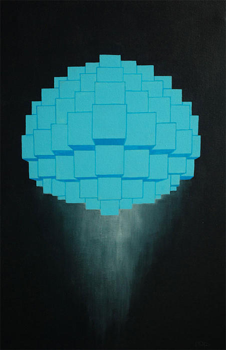 Blue Painting - Globule by Michael Mizenko