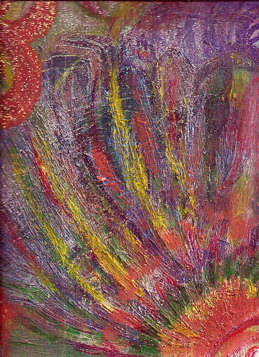 Texture Painting - Glorious Day Rays by Anne-Elizabeth Whiteway